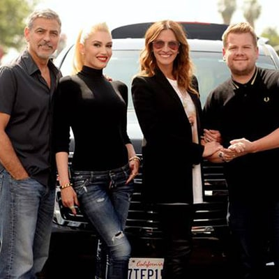 Gwen Stefani, James Corden Enlist Help of George Clooney and Julia Roberts for Carpool Karaoke