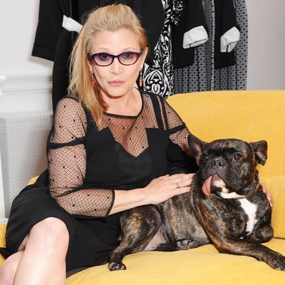 Carrie Fisher's Sweetest Moments With Her Beloved Dog Gary