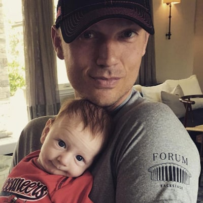 Nick Carter Teaches Baby Son to Be a Football Fan: Pics