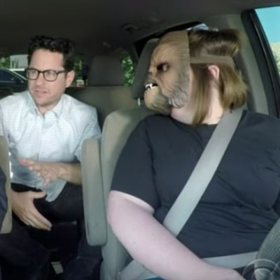 Chewbacca Mom Takes James Corden to Work, J.J. Abrams Jumps in Too! Watch