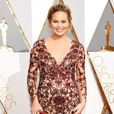Pregnant Chrissy Teigen Wows in Two Bump-Hugging Gowns For Oscars 2016: Tell Us Your Favorite
