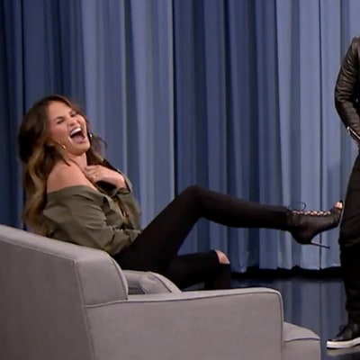 Chrissy Teigen Calls Out John Legend's Unzipped Fly While Playing Charades With Jimmy Fallon, Chelsea Handler