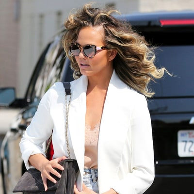 Chrissy Teigen Rocks the Bounciest, Perfect '80s Curls