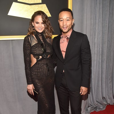 Chrissy Teigen and John Legend Struggle to Play Hilarious Toilet Game After Grammys