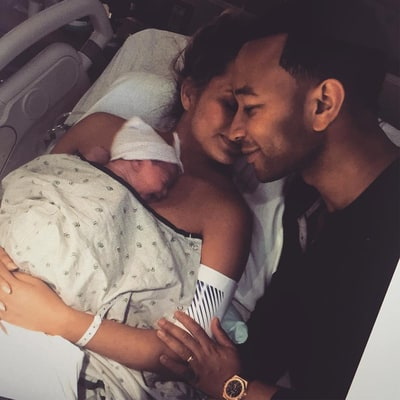 Chrissy Teigen Shares the Sweetest Flashback Photo With John Legend From Daughter Luna's Birth