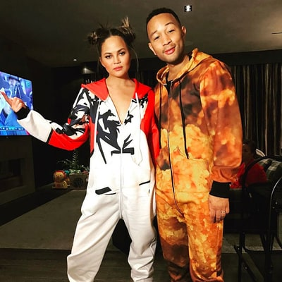 Chrissy Teigen, Kourtney Kardashian, John Legend Wear PJs at Jessica Alba's Party for Husband Cash Warren