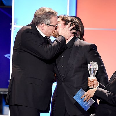 Christian Bale Makes Out With The Big Short Director Adam McKay at the Critics' Choice Awards: Watch the Video, GIF!
