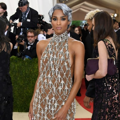 Ciara Debuts Unexpected 'Silver Metal' Hair at Met Gala 2016