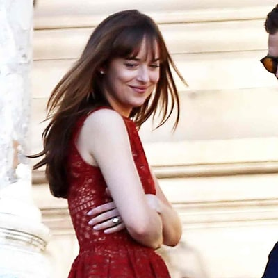 Dakota Johnson Is Living Her Most Fashionable Life Filming '50 Shades' in Paris