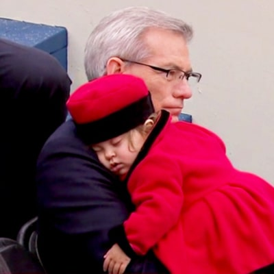 This Adorable Little Girl Couldn't Stay Awake During Donald Trump's Inauguration — Watch!