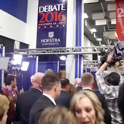 You Need to See This Reporter Snap 'Thanks a Lot, Bitch' at a Woman at Presidential Debate 2016