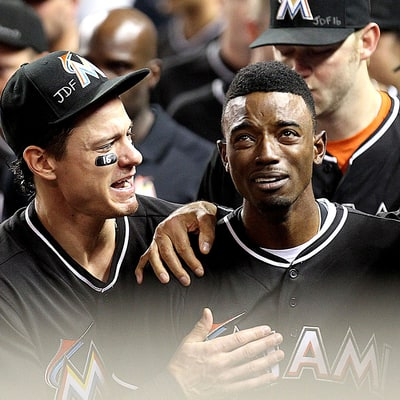 Miami Marlins' Dee Gordon Breaks Down in Tears Over His Home Run Minutes After Jose Fernandez Tribute