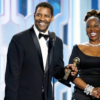 Denzel Washington Cringing at Jamie Foxx's Golden Globes 2016 Joke Is Priceless