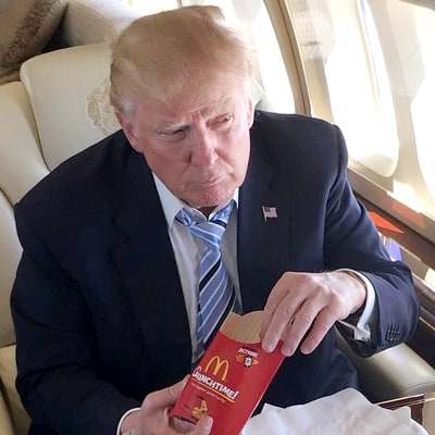 Donald Trump Celebrated Clinching the Republican Nomination With McDonald's