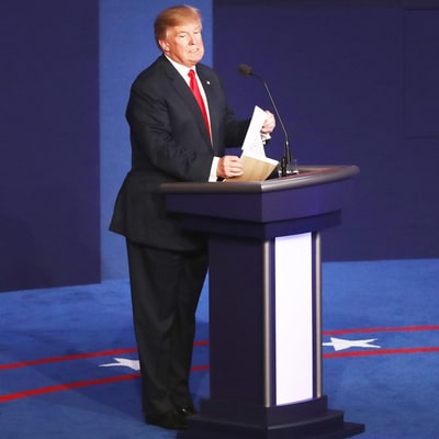 Donald Trump Angrily Ripping Up His Notes After the Debate Is a Must-See: Watch