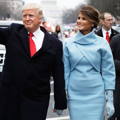 Donald Trump, Melania and Barron Trump Walk Part of the Inaugural Parade Route: Watch