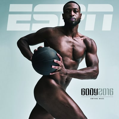 Dwyane Wade Is All Muscle Posing Naked for ESPN's Body Issue