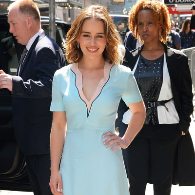 Emilia Clarke Rocks Two Pastel Dresses Perfect for Spring in One Day