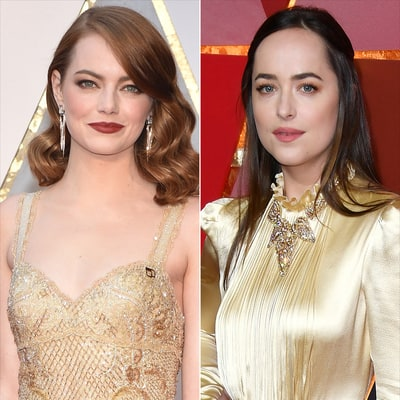 Oscars 2017: See How Emma Stone and Dakota Johnson Supported Planned Parenthood on the Red Carpet