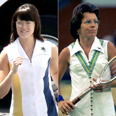 Emma Stone Morphs Into Billie Jean King: Compare Her to the Real Tennis Star!