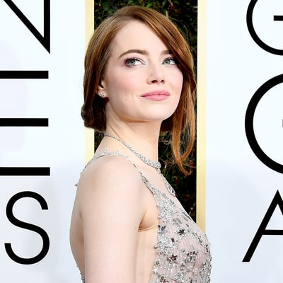 2017 Golden Globes Biggest Beauty Trend: No-Makeup Makeup on Emma Stone, Kristen Bell and More