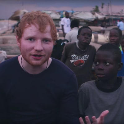 Watch Ed Sheeran Help Homeless Liberian Kids in Red Nose Day Video