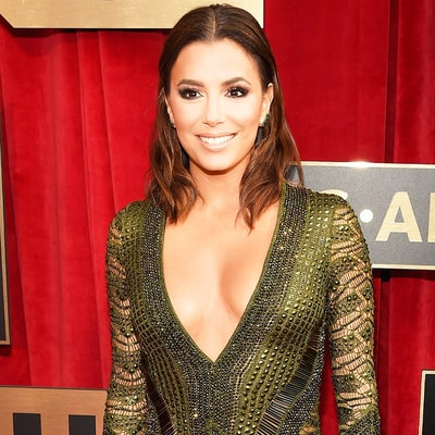 Eva Longoria Skips the Underwear in a Plunging, Open-Backed Dress at the SAG Awards 2016