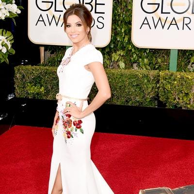 Golden n white dress red