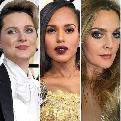 2017 Golden Globes' Bold, Bizarre and Beautiful Moments: Kerry Washington's Lipstick, Evan Rachel Wood's David Bowie-Inspired Hair and More