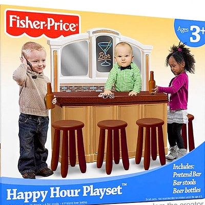 The Internet Freaked Out Over This Fake Fisher-Price 'Happy Hour' Playset