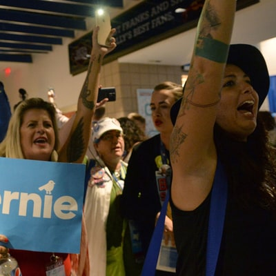 Inside the 'Bernie or Bust' Movement's Last Gasp