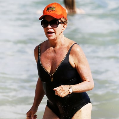 Goldie Hawn, 70, Stuns in a One-Piece Swimsuit — See the Pictures