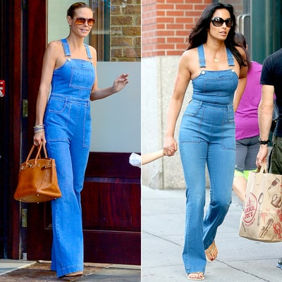 Heidi Klum, Padma Lakshmi Rock Same Skintight Flared Overalls With No Shirt: Who Wore It Best?