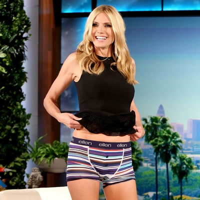 Heidi Klum Flashes Her Underwear During 'The Ellen DeGeneres Show' — on Purpose!