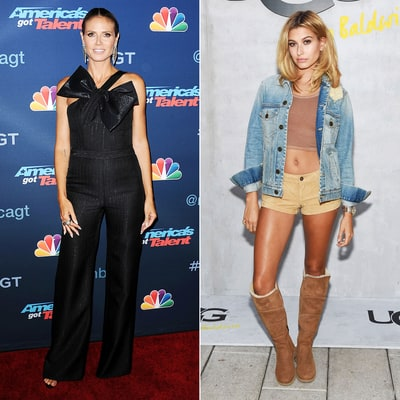 Heidi Klum and Hailey Baldwin Go Chic and Super-Short, Respectively: See Their Drastically Different Looks