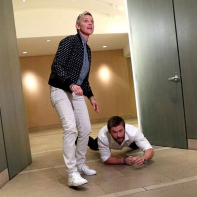 Chris Hemsworth Surprises Superfan Secretary in Hilarious 'Ellen' Video: Watch