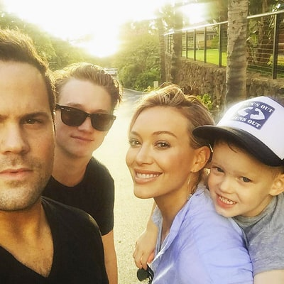 Hilary Duff Shares Selfie With Ex-Husband Mike Comrie, Son Luca: 'Family First'