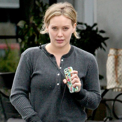 Hilary Duff Goes Without Makeup in Beverly Hills