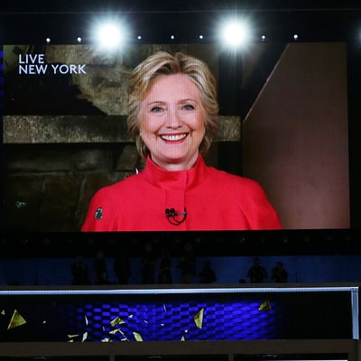 Hillary Clinton Reacts to Winning the Democratic Presidential Nomination: 'The Biggest Crack in That Glass Ceiling Yet'
