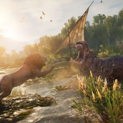 Watch Hippos Chase Me Across 'Assassin's Creed Origins'