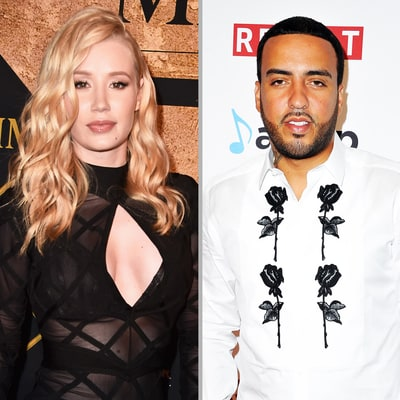 French Montana Rests His Head on Iggy Azalea's Butt as They Fly to Cabo
