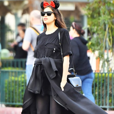 Pregnant Irina Shayk Covers Up Baby Bump During Fun Trip to Disneyland Trip With Sister — See the Cute Pics!