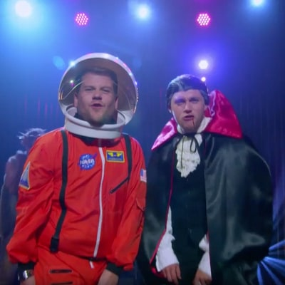 James Corden and One Direction's Niall Horan Sing About Halloween in a Parody of Ginuwine's 'Pony': Video