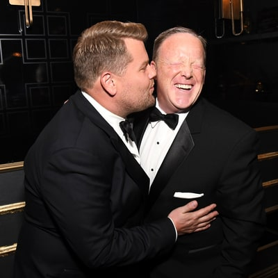 James Corden Regrets Kissing Sean Spicer at Emmys 2017