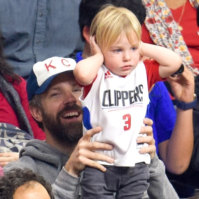 Jason Sudeikis and Olivia Wilde's Baby Son Otis, 21 Months, Can't Handle the Noise at NBA Game: See the Photos