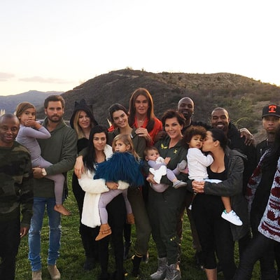 Caitlyn and Kris Jenner Join Kids for Kardashian-Jenner Family Thanksgiving, But Where's Rob?