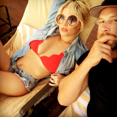 Jessica Simpson Is Red-Hot in Skimpy Bikini Top, Daisy Duke Shorts With Husband Eric Johnson: See the Pic!