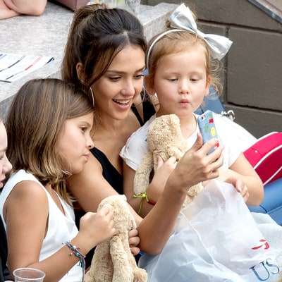Jessica Alba's Daughters Honor and Haven Are So Grown-Up Now — See Them at the U.S. Open!