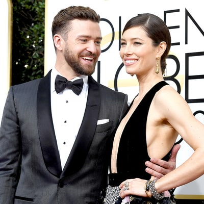 Justin Timberlake and Jessica Biel Talk 'Trolls' Halloween Costumes With Baby Silas at 2017 Golden Globes: 'Average Tuesday at Our House'