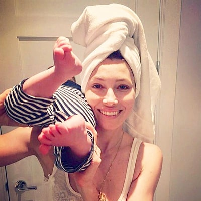 Jessica Biel Shares Rare Photo With Baby Silas, Reveals Their Morning Routine